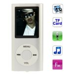 Seasiant India 1.8 inch TFT Screen Metal MP4 Player with TF Card Slot, Support Recorder, FM Radio, E-Book and Calendar(Silver)