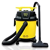 Inalsa Vacuum Cleaner Wet and Dry Micro WD10 with 3in1 Multifunction Wet/Dry/Blowing  14KPA Suction and Impact Resistant Polymer Tank,(Yellow/Black)