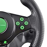 MAXBELL Racing Steering Wheel and Pedal Set Truck Driving Simulator Game Controller