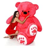 RSS SOFT TOYS Lovable/Smooth and Soft with Neck Bow Teddy Bear for Special Birthdays/Valentinedays.Gifts for Girls/Boys/Baby Kids (3 feet, Red)
