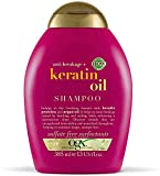 OGX-Anti-Breakage + Keratin Oil Shampoo | With Keratin Proteins & Argan Oil, For Damaged hair & Split Ends, Sulfate Free Surfactants, No Parabens, 385 ml