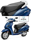 G PU Leather Long Lasting, Washable Seat Cover for Honda Activa 6G (Black)