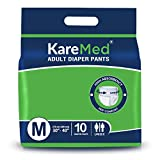 KareMed Adult Diaper Pants for Incontinence, Medium, Waist Size 75-100 cm (30'-40')-Pack of 1 (10 Count), white, m