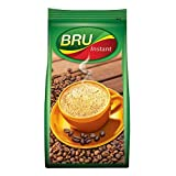 BRU Instant Coffee Powder 200g Pouch, Roasted Arabica & Robusta Ground Coffee Beans From South India - Rich & Strong Blend Of Coffee & Chicory