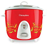Brayden Rizo 700 W Electric Rice Cooker with One-Step Automatic Cooking (Crimson Red, 1.8 Litre)