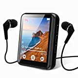 JOLIKE MP3 Bluetooth 5.0 Touch Screen 16GB Portable Music Player with Speakers High Fidelity Lossless Sound Quality FM Radio Recording E-Book 1.8 Inch Screens Support (128GB)