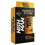 Nishman Mattifying Volume Powder Hair Wax 20gm : Matte Finish | Hair Style | Strong Hold Styling | Wax for Men