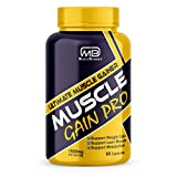 M B Muscle Builder's Muscle Gain Pro, Mass & Weight Gainer Capsule for Fast Weight & Muscle Gain, Muscle Building Weightlifters Supplement for Muscle Growth, Stamina & Strength For Men & Women,60 Cap