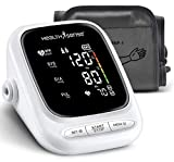 HealthSense Heart-Mate BP144 Upper Arm Automatic Digital Talking Blood Pressure Monitor, Heart Rate Machine & Pulse Checking meter for Accurate Home Monitoring with 1 Year Warranty, Batteries Included (White)