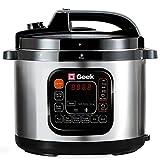 Geek Robocook Zeta 5 liter Electric Pressure Cooker with NS Pot, Black