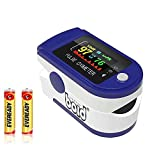 Oximeter pulse(CE Certified),O2 Saturation, Pulse Rate (PR) with Digital Display,Oxymeter with TFT Display (Blue) LK-88;2AAA Batteries Included(Installed)