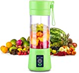 MR. BRAND Portable Mini Blender, Personal Mixer Rechargeable with USB, for Smoothie, Fruit Juice, Milk Shakes, 380ml, Four 3D Blades for Great Mixing (Multi Colour)