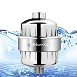 RIVERSOFT SF-15 PRO abs shower and tap filter for hard water with 15 stage (Chrome, Pack of 1)