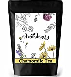 Chaiology Chamomile Tea 100gm, Loose Flower Caffeine Free Chamomile Tea Leaves for Calming, Stress Relief, Anxiety & Good Sleep