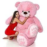 NP Toys Printed Foot Teddy Bear Stuffed Toys (Pink, 3 Feet)