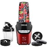 Inalsa Home Appliances Mixer Grinder Nutri Blender Vito Blend- 1000W with 100% Pure Copper Motor & Variable Speed  6 Leaf SS Blade  2 Tritan Jars (1L & 0.45L)   Mix, Blend & Grind, (Red/Black)
