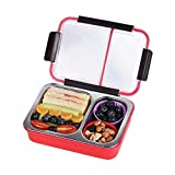 RUMPES 2 Compartment Leak Proof Insulated Stainless Steel BPA Free Insulated Lunch/Tiffin Box with Removable Inner Plate for Women and Men Office, Kids to School, Tiffin Boxes, Lunch Box (Multicolor)
