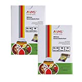 VMS Deluxe Thermal Lamination Pouch (Sheets) 65x95mm 125 Micron For ID Card size (Set of-2)