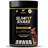 WellsPro Slim Shake Protein Powder 500g [20 Servings, Swiss Chocolate] Formula 1 - Meal Replacement, 7 Ayurvedic Herbs, Multivitamins & Minerals Weight Loss - Control & Management For Men & Women