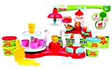 Fundough - Icecream Shop , Cutting and Moulding Playset , 3Years + ,15+ Pieces,Multi-Colour