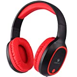 ZEBRONICS Zeb-Thunder Wireless Bluetooth Over The Ear Headphone with Mic (Red)