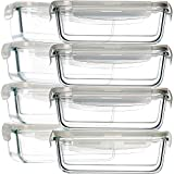 OM KRAFT SALEs 620 ml Kitchen Rectangular Glass Container Storage Lunch Glass Lunch Box 1 pcs