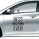 DIYthinker Best Mom Ever Quote Mother's Day Car Sticker On Car Styling Decal Motorcycle Stickers For Car Accessories Gift 30Cm 30Cm Multi