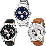 LEVERET Analogue Men's Watch (Multicolored Dial) (Pack of 3)