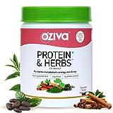 OZiva Protein & Herbs, Women, (Natural Protein Powder with Ayurvedic Herbs like Shatavari, Giloy, Curcumin & Multivitamins for Better Metabolism, Skin & Hair) Chocolate,500g