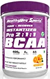 HealthyHey Sports BCAA Powder 2:1:1, Branched Chain Amino Acids, BCAAs, Tangy Orange, 66 Servings (Tangy Orange, 400 g)