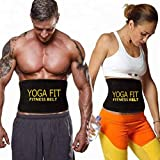 EASY DEAL INDIA EDI-Exercise Neoprene Belt for Fat - Burning, Sweat Waist Trimmer, Waist Fat Burner, Sweat Belt for Belly Yoga, Wrap Exercise Body Slimming Belt, Extra Wide for Men and Women