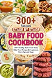 Baby Food Cookbook Stage by Stage: 300+ Healthy Homemade Tasty Baby Food Recipes for beginners, Every Age and Stage.