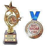 Victory Best MOM Trophy World Best Mom Gift Medal Trophy for Mother