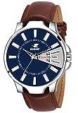 Espoir Analogue Blue Dial Day and Date Men's Boy's Watch - InfiDex0507