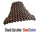 Q1 Beads Universal Fit BS Wooden Beads Bike Seat Cover Cushion for All the Bike Royal Enfield/Pulsar/Splendor/Passion/Glamour/Platina/Shine/CBZ/FZ/Hornet/Apache/Unicorn (Coffee)