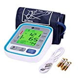 Sahyog Wellness Fully Automatic Upper Arm Digital Blood Pressure Monitor Machine with Extra Long XXL Sized Cuff (22-42 cm) having USB Cable & Battery (White)
