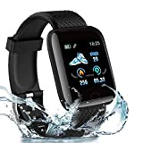 Smart Watch D116 For Xiaomi Mi 6 Sports Arm Belt with Adjustable Workout Band for Gym Running Jogging and Aerobics, Cycling Exercise with Adjustable Elastic Band ,Cell Phone Bag Key Holder,& Earphone Cord Holder,Hiking Biking Walking, Anti-Slip Ultra Light Weight Armband Mobile Holder - Black