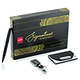 Cello Signature Carbon Executive Gift set  Best Father's Day Giftset  Premium Metal Ball Pen with Keychain & Visiting Card Holder   Perfect gift for your dad   Happy Father's Day 2021