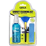 Gizga Essentials Professional 3-in-1 Cleaning Kit for Camera, Lens, Binocular, Laptop, TV, Monitor, Smartphone, Tablet (Includes: Cleaning Liquid 100ml, Plush Microfiber Cloth, Dust Removal Brush)