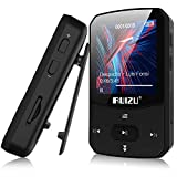 RUIZU X52 16GB Clip Mp3 Player with Bluetooth 5.0 16GB Lossless Sound Music Player with FM Radio Voice Recorder Video Earphones for Running, Support up to 128GB(Black)
