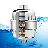 Allin Exporters 15 Stage Shower Filter Tap Hard Water Softener with Replaceable Multi-Stage Cartridge Activated Carbon for Chlorine Removal, Skin & Hair Conditioning