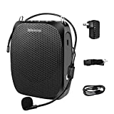ZOWEETEK Voice Amplifier Portable with Wired Microphone Headset and Waistband, Supports MP3 Format Audio for Teachers, Singing, Coaches, Training, Presentation, Tour Guide,Elderly