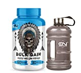 Canada Nutrition Bulk Gain Mass & Weight Gainer Capsule for Fast Weight & Muscle Gain, Daily Muscle Building Weight Lifters Supplement for Muscle Growth, Stamina & Strength- 60 Cap, Free Gallon Shaker