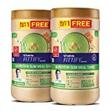 Saffola FITTIFY Hi-Protein Slim Meal Replacement Shake, Pistachio Almond, Buy 1 Get 1, Each Pack 420 gm