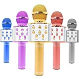 Refulgix Handheld Wireless Singing Mike Multi-Function Bluetooth Karaoke Mic with Microphone Speaker for All Smart Phones (Assorted)