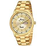 JAINX Analogue Men's Watch(Gold Dial Gold Colored Strap)-JM1133
