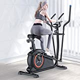 IRIS Fitness Cross-Trainer for Home,Magnetic Ellipse Trainer with 8 Levels of Resistance, with Adjustable Handle and Seat,Cardio Workout Machine