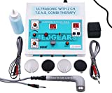 MEDGEARS Ultrasonic Tens Machine 2 Channel Ultrasound Physiotherapy Machine Electrotherapy Combo for All Pain Relief Device Physiotherapy Equipment