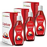Nutroactive Lipolyzer Fat Burning Oil, Slimming Oil, 225 Ml (Pack of 3)