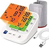 Mievida Mi Heart 101 Blood Pressure Monitor with Smart 3 Colored Backlight Display of 4.3 Inches, USB Cable, Dual User (2 X 192 M) & Voice Feature
